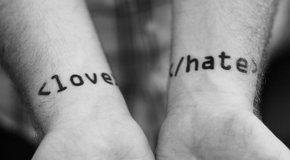 love hate tatto